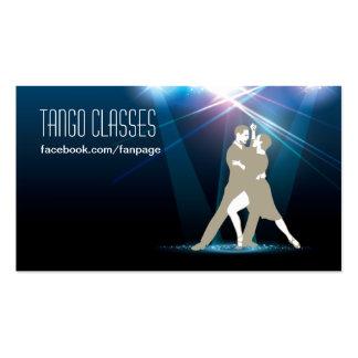 Bailarines del salón de baile en la tarjeta de vis tarjetas de visita