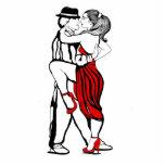 Bailarines del tango escultura fotografica