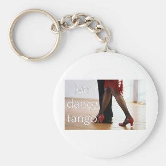 ¡Bailarines del tango! Llavero Redondo Tipo Pin