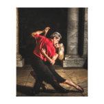 Bailarines del tango lona envuelta para galerias