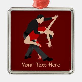 Bailarines del tango (modificados para requisitos adorno navideño cuadrado de metal