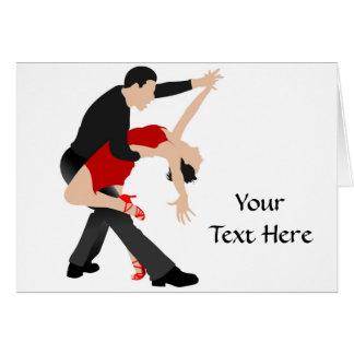 Bailarines del tango (modificados para requisitos  tarjeta de felicitación