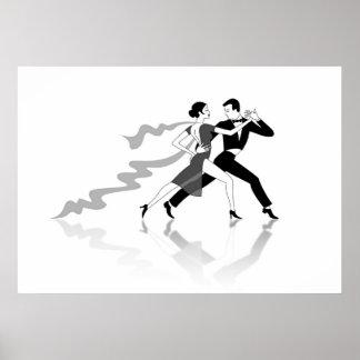 Bailarines del tango póster