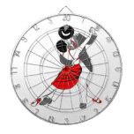 Bailarines del tango tablero de dardos