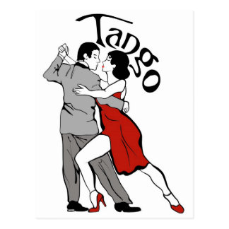 Bailarines del tango postal