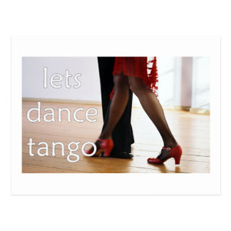 ¡Bailarines del tango! Postal
