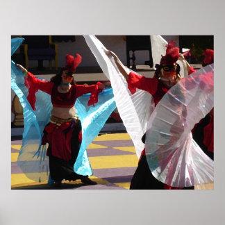 Bailarines del velo impresiones
