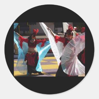 Bailarines del velo etiquetas redondas