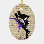 Bailarines del vintage del estilo del art déco adorno de navidad