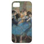 Bailarines en azul iPhone 5 coberturas