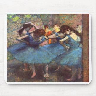 Bailarines en azul alfombrillas de ratones