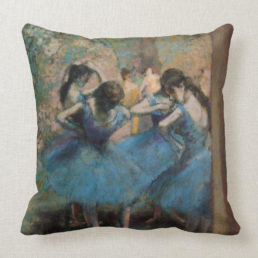 Bailarines en el azul, 1890 cojin