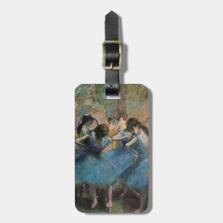 Bailarines en el azul, 1890 etiquetas de maletas