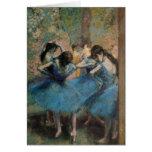 Bailarines en el azul, 1890 felicitación