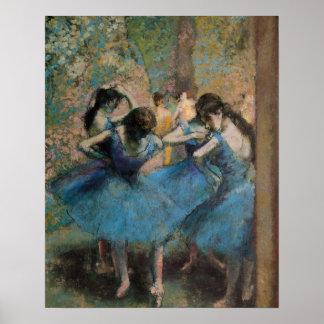 Bailarines en el azul 1890 poster