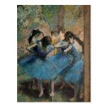 Bailarines en el azul, 1890 postal