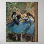 Bailarines en el azul, 1890 póster