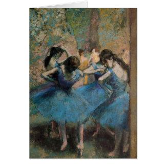 Bailarines en el azul, 1890 tarjeta de felicitación