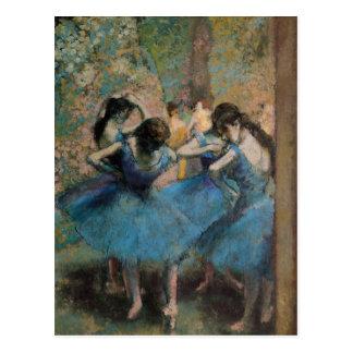 Bailarines en el azul 1890 postal