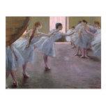 Bailarines en el ensayo, 1875-1877 postal