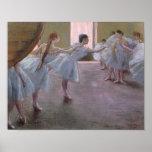 Bailarines en el ensayo, 1875-1877 póster