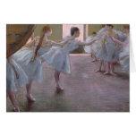 Bailarines en el ensayo, 1875-1877 tarjeta de felicitación