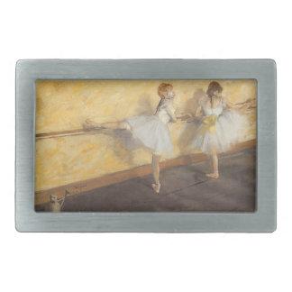 Bailarines en la barra de Edgar Degas, ballet del Hebillas Cinturon Rectangulares