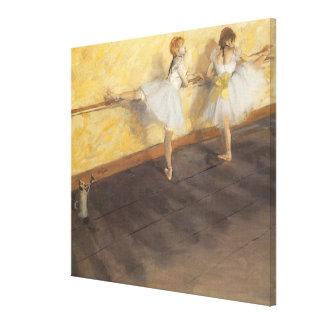 Bailarines en la barra de Edgar Degas, ballet del Impresión En Lienzo