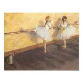 """Bailarines en la barra de Edgar Degas, ballet del Invitación 4.25"""" X 5.5"""""""