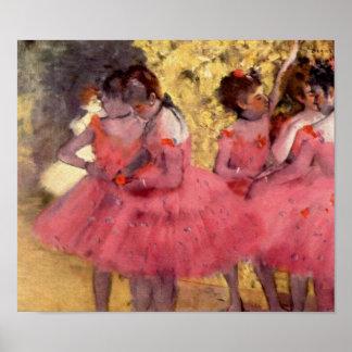 Bailarines en rosa de Edgar Degas Impresiones