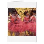 Bailarines en rosa felicitaciones