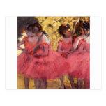 Bailarines en rosa postal