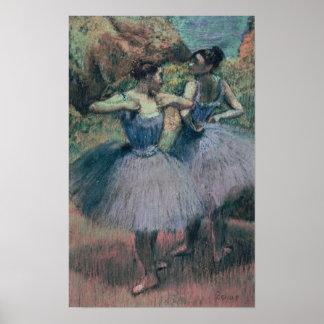 Bailarines en violeta póster