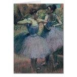 Bailarines en violeta tarjetón