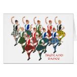 Bailarines escoceses de la montaña felicitaciones