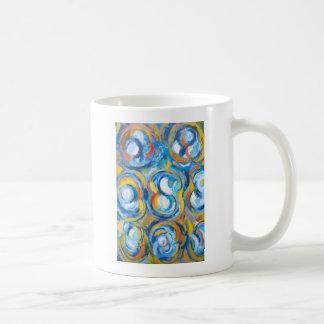 Bailarines girantes abstractos (expresionismo taza clásica