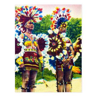 Bailarines indios de la guerra del Shawnee, Oklaho Postal