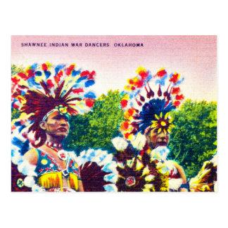Bailarines indios de la guerra del Shawnee, Postal