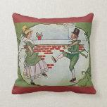 bailarines irlandeses del vintage y cruz céltica almohadas