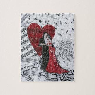 Bailarines románticos del salón de baile puzzles con fotos