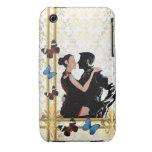 Bailarines románticos en el damasco blanco Case-Mate iPhone 3 protectores