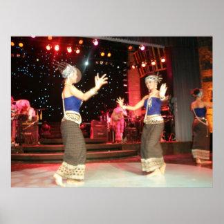 Bailarines tailandeses impresiones
