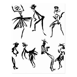 Bailarines Tarjetas Postales
