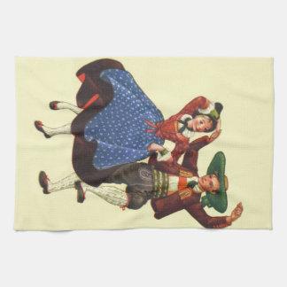 Bailarines tiroleses del vintage, Austria Toalla De Mano