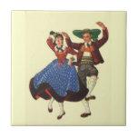 Bailarines tiroleses del vintage, Austria Teja