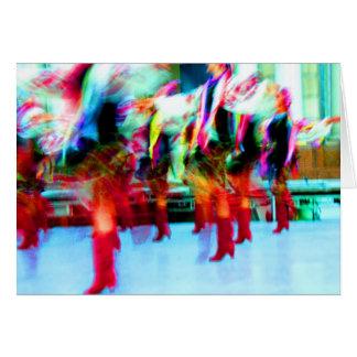 Bailarines ucranianos tarjeta pequeña