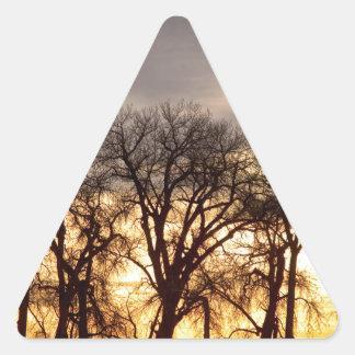 Baile a la puesta del sol calcomania de triangulo personalizadas