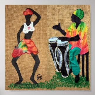 Baile a los tambores impresiones