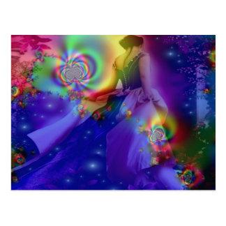 Baile a través de las estrellas tarjetas postales