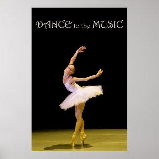 Baile al poster de la música 36 x 24